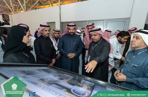 "Minister of Communications and Information Technology, visit AEC stand in ""Saudi IoT"" 2019"